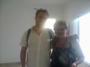Ana y Diego Leman,Director de la película