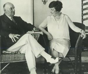Marceo T. de Alvear y Regina Paccini