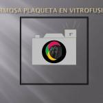Plaqueta en Vitrofusiòn de la Artista Plástica Aurora Hidalgo