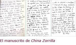 manuscrito china zorrilla