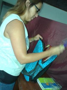 Preparando las mochilas