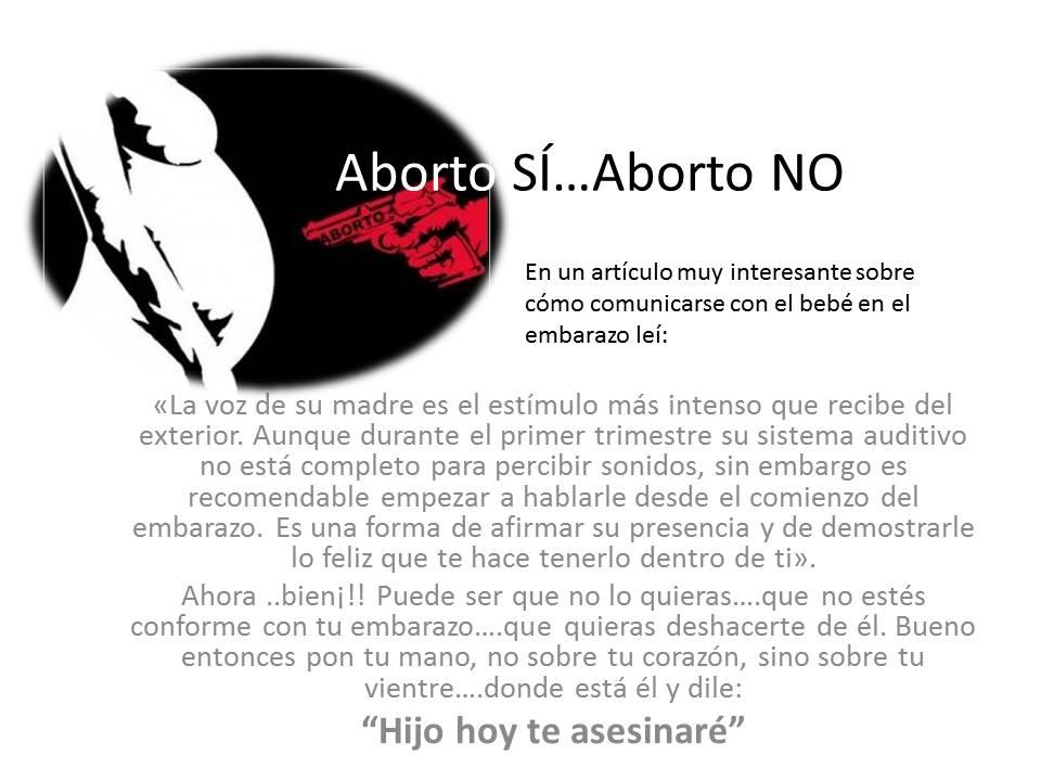 aborto si aborto no