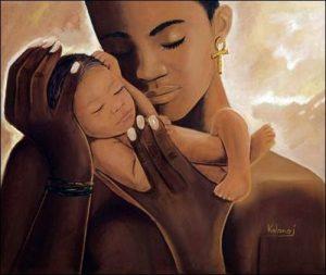 03 madre e hijo negros